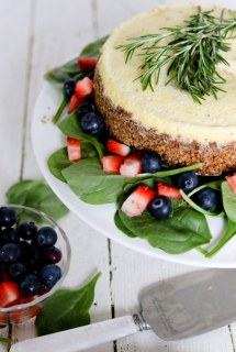 Savory Blue Cheese Cheesecake