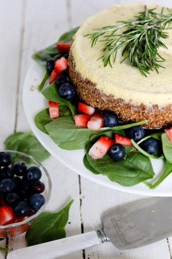 Savory Blue Cheese Cheesecake