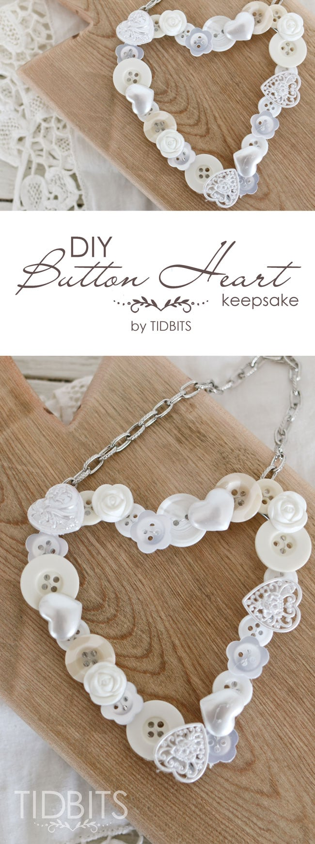 DIY Button Heart.  A sweet keepsake and simple craft to make.