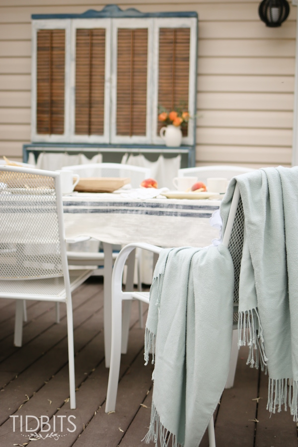 Cozy Fall home tour on the deck. The best time of year to enjoy your outdoor spaces!