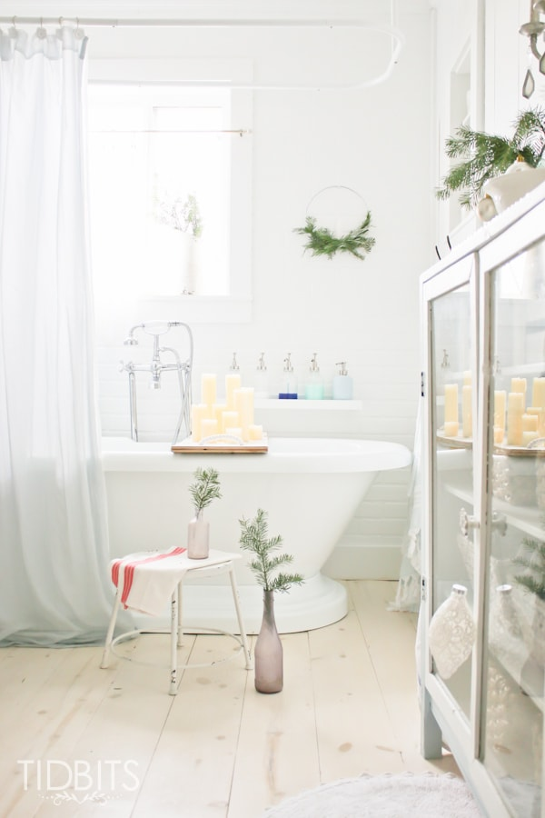 French Farmhouse Christmas Home Tour Christmas In The Master Bathroom