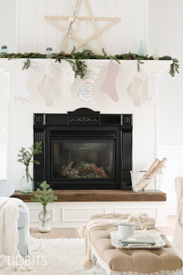 Christmas Mantels around America and large stick star tutorial.
