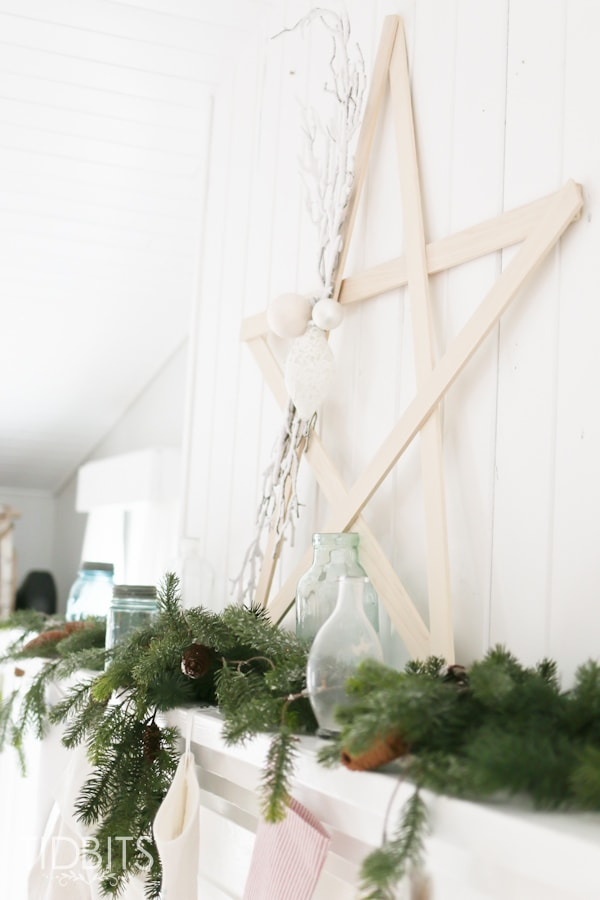 French Farmhouse Christmas Home Tour. Christmas in the living room.