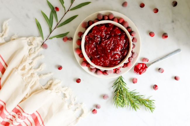 Pressure Cooker Cranberry Apple Sauce - you'll be the talk of the table with this unique and healthier spin on cranberry sauce.