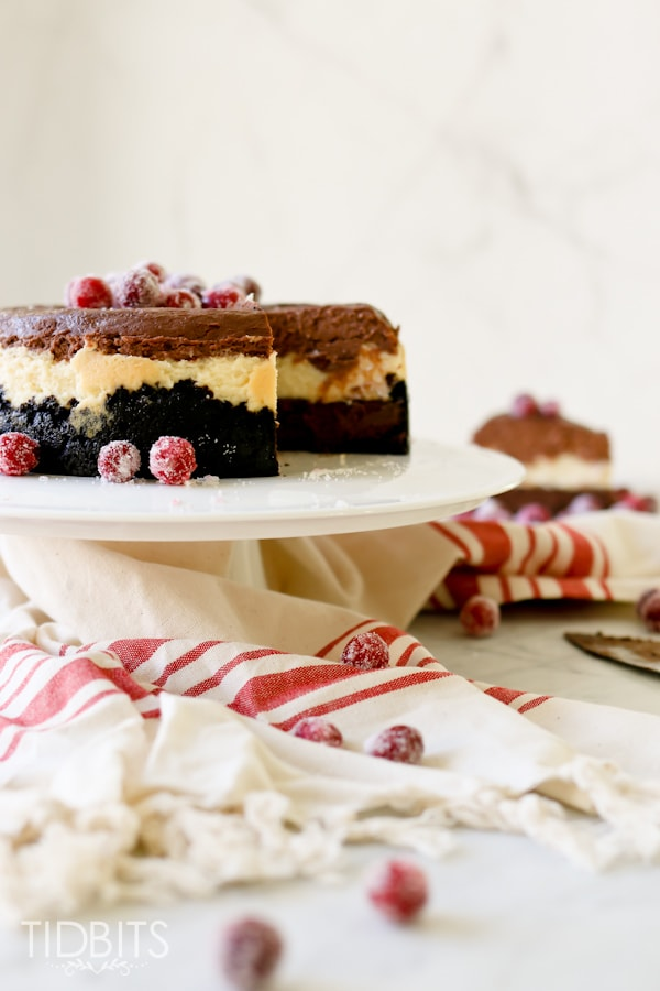 Pressure Cooker Triple Chocolate Layered Cheesecake. You'll think you've died and gone to heaven.