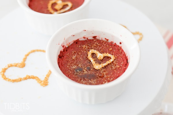 Red Velvet Creme Brulee, made in the electric pressure cooker.