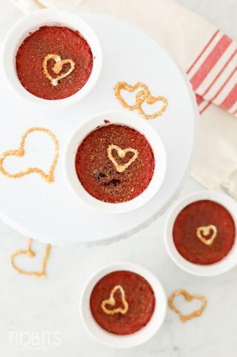 Pressure Cooker Red Velvet Creme Brulee