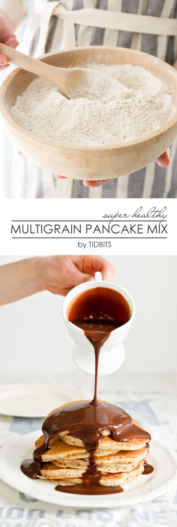 MULTIGRAIN PANCAKE MIX - make it ahead of time, and throwing together healthy whole grain pancakes and waffles are as easy as any store bought mix - and better for you!