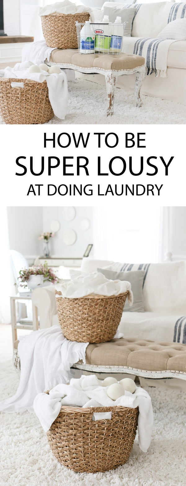 How to be super lousy at doing laundry + my favorite laundry products for a chemically sensitive family.