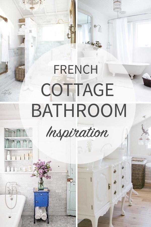 French cottage bathroom inspiration tidbits for French cottage bathroom design