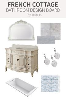 French Cottage Bathroom Design Board
