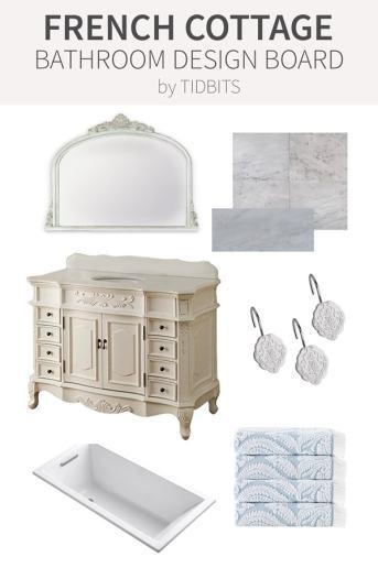 French Cottage Bathroom Design Board