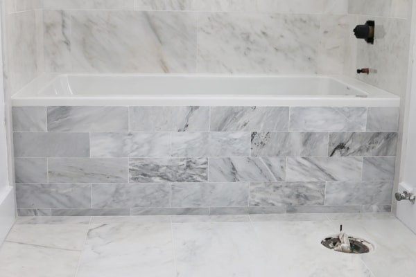 how to install marble tile tidbits
