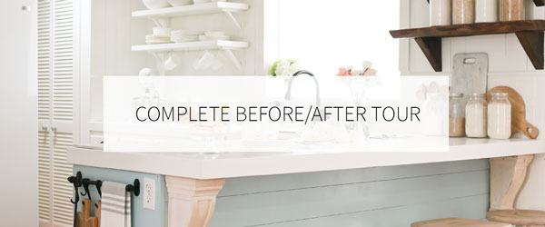Complete before/after home tour.