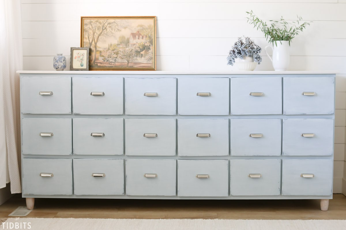 18 Drawer DIY Apothecary Cabinet | Free Building Plans Available!