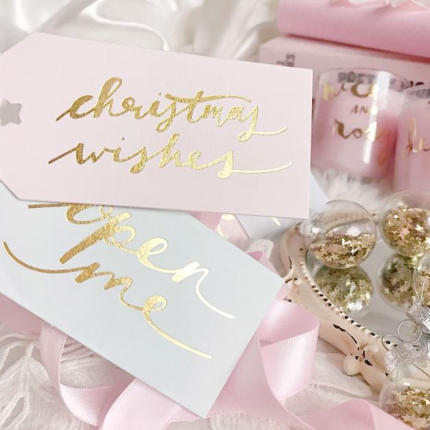 Pink Christmas Cards