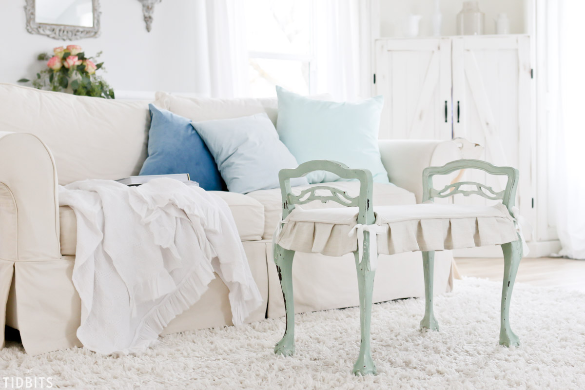 chair slip covers in store espresso rocking nursery how to sew a cushion slipcover tidbits when it comes covering the making is often easier than reupholstering piece and yields nice french country look