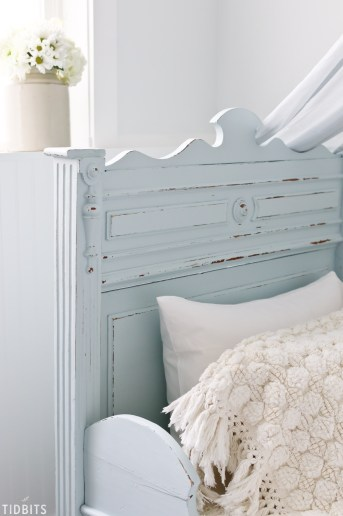 DIY Painted Antique German Sleigh Bed