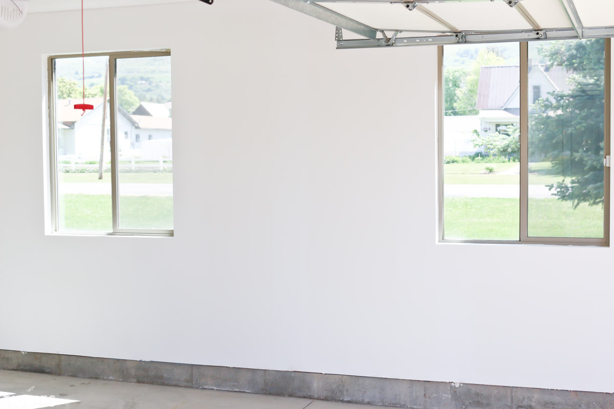 Painting the garage walls