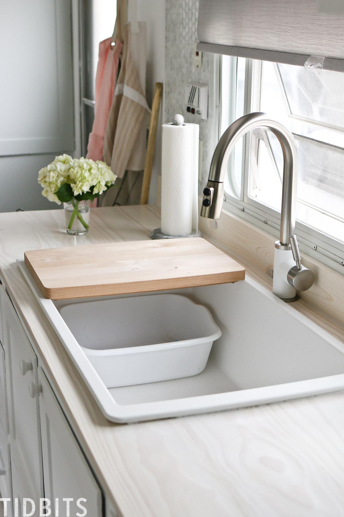 kitchen details in our rv renovation