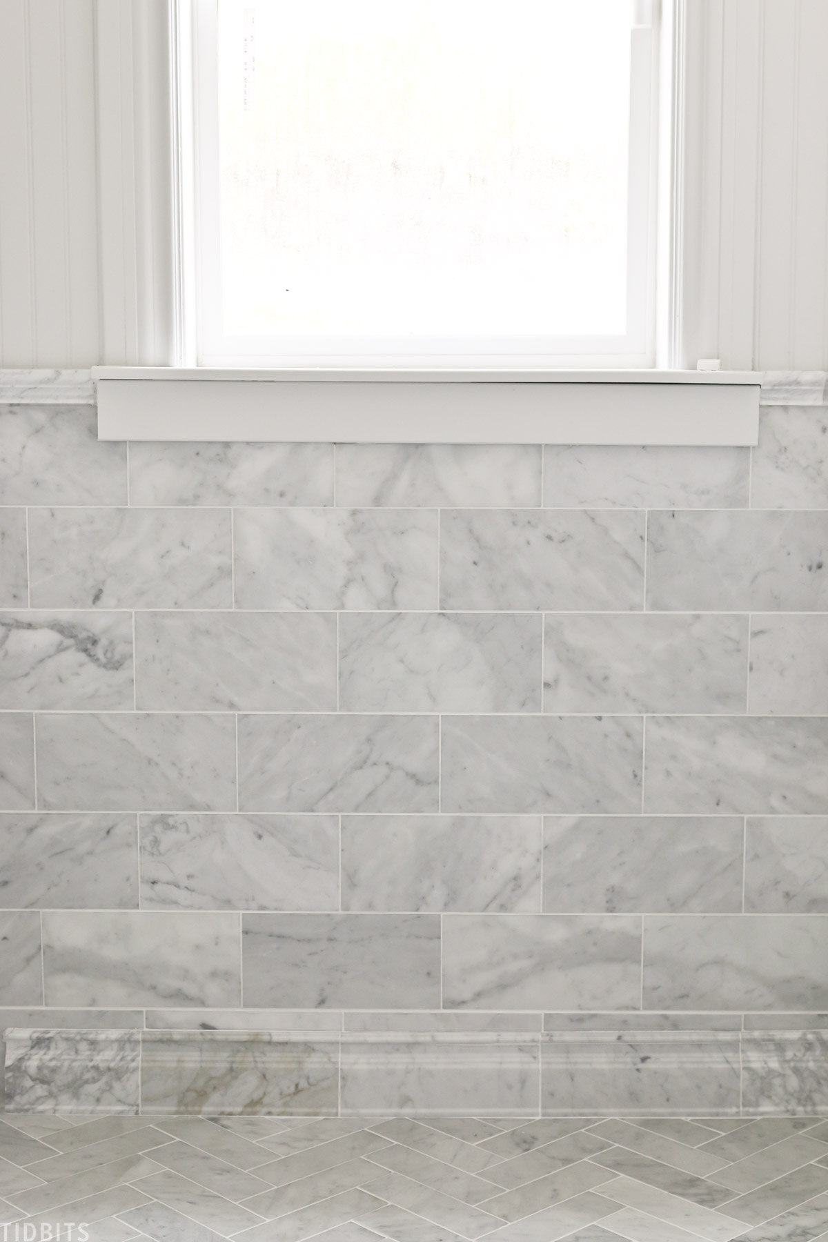 installing marble tile and trim