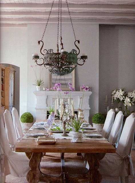 Rustic  Romantic Dining Rooms