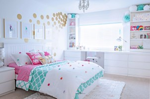 Tween Girl&39;s Bedroom Makeover   REVEAL   TIDBITS&TWINE