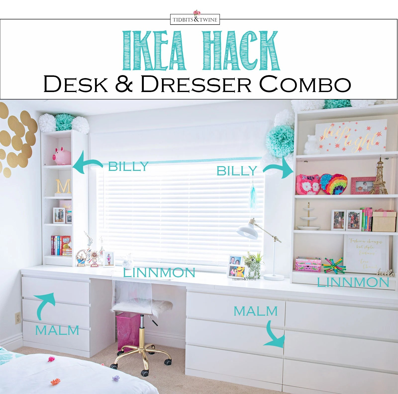 IKEA Hack  For a BuiltIn Look  TIDBITSTWINE