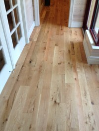 White Oak flooring, rustic