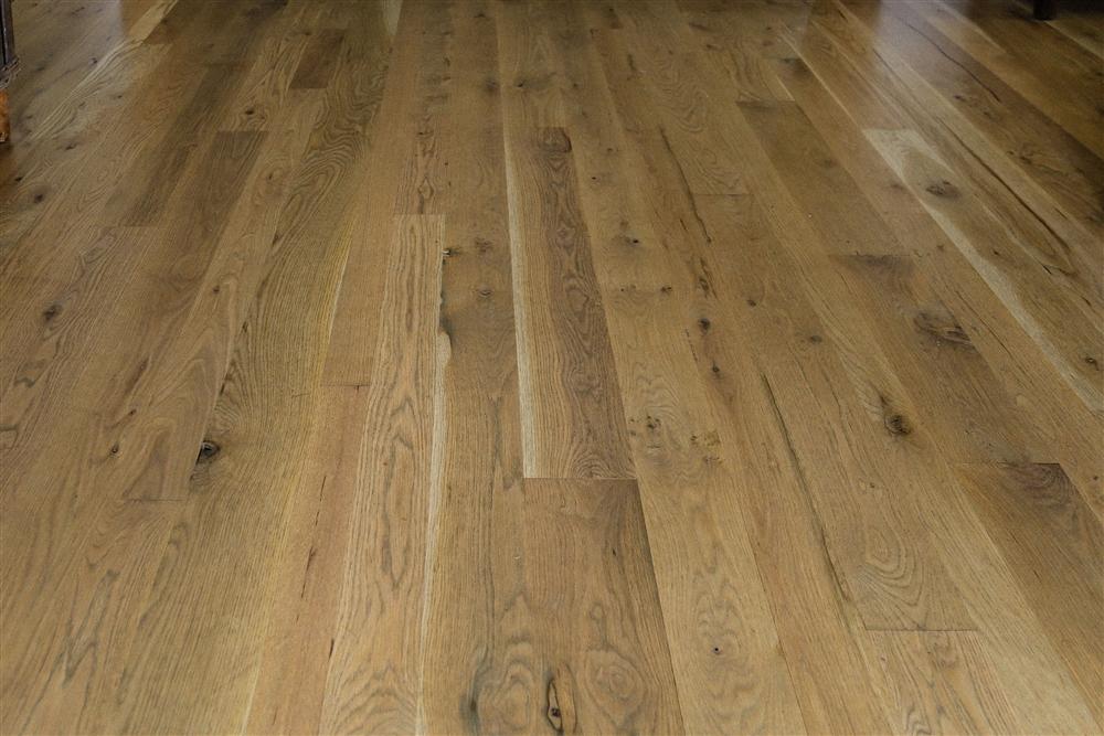 White Oak flooring, rustic
