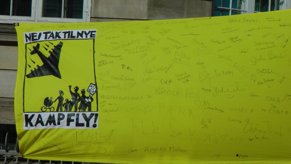 Nej til nye Kampfly Foto: TTF - aktiv mod krig