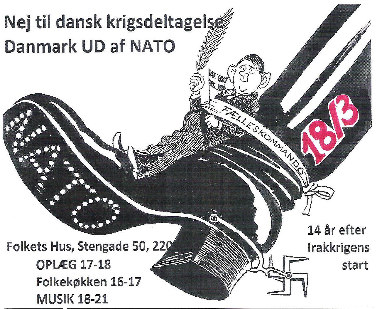 Nej Til Dansk Krigsdeltagelse & Danmark Ud Af NATO