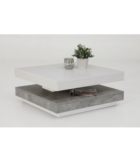 table basse carree duo