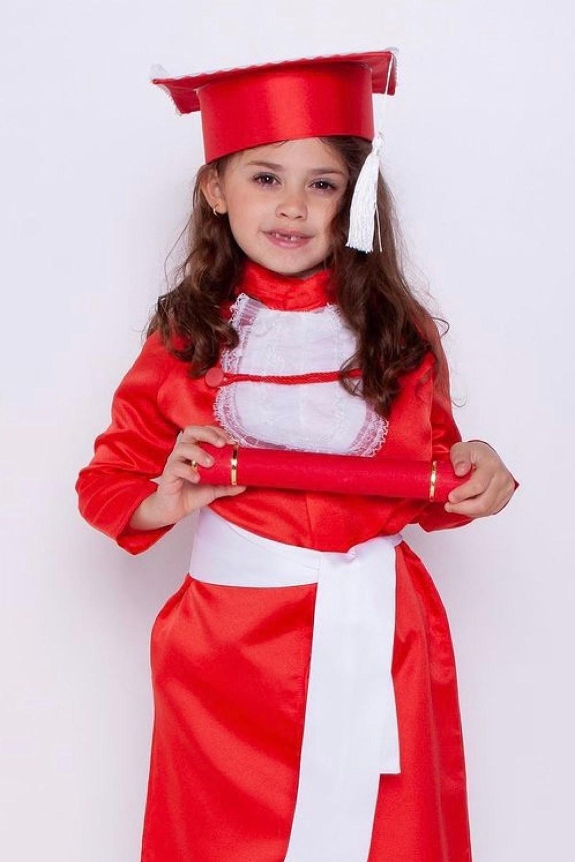 5 - beca de formatura infantil vermelha