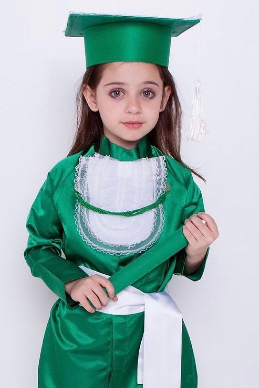 8 - beca de formatura infantil verde