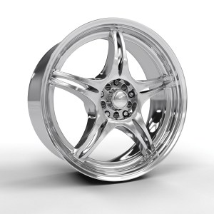 Picture of a polished alloy wheel