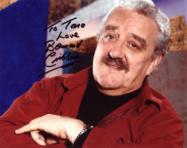 Autograph saying 'To Tara Love Bernard Cribbins'