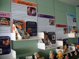 Display boards about each of the main Wombles characters