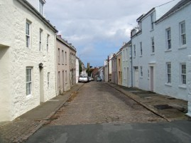 Little Street on Alderney, with Elisabeth Beresford's house on the right