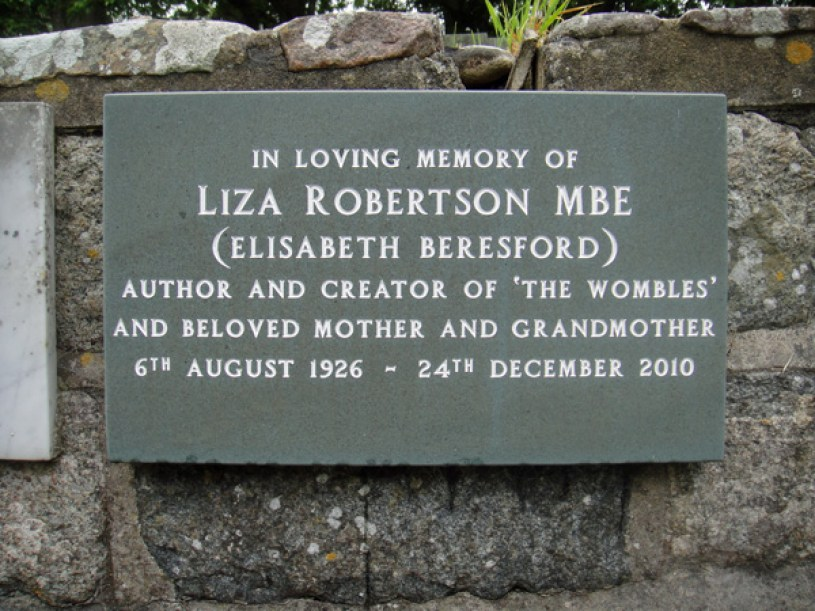 Elisabeth Beresford's memorial plaque at St Anne's Church on Alderney
