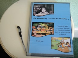 Visitors book for memories of Liza and the Wombles