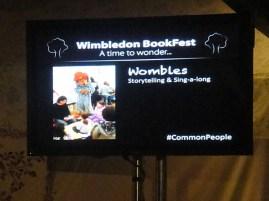 Wombles screen at Wimbledon BookFest