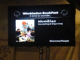 Wombles screen at Wimbledon BookFest