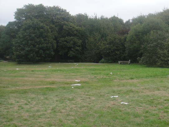 A suspicious amount of rubbish on Wimbledon Common...