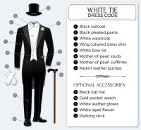 White Tie - Guide to White Tie Dress Code | Tie-a-Tie.net