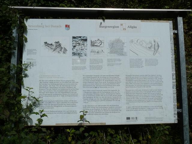 Durachtobel-Burgruine-Infotafel