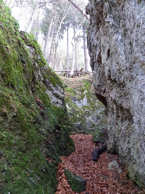 Felsspalte in der Teufelsküche