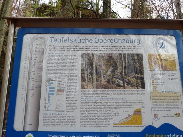 Infotafel in der Teufelsküche Obergünzburg