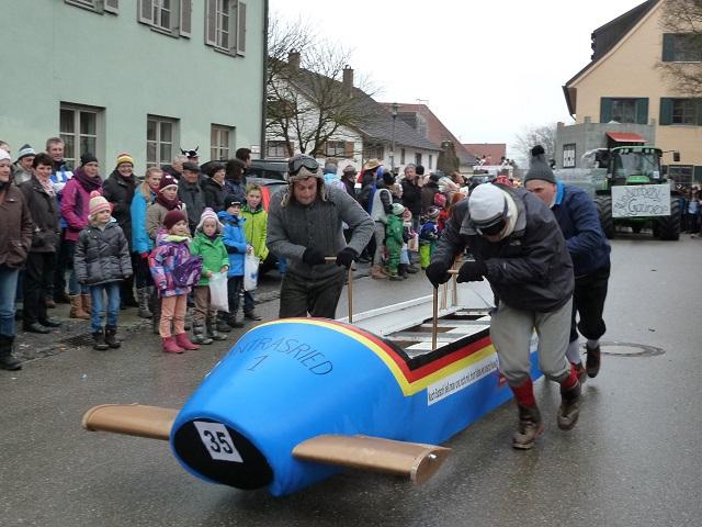 Faschingsumzug Obergünzburg 2014 - Untrasrieder Rodler
