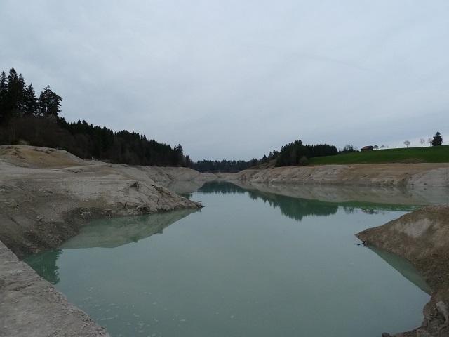 Forggensee - am Beginn der ehemaligen Lechschlucht